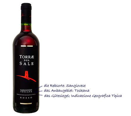 Qualitätssiegel bei italienischen Weinen