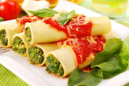 Canelloni mit Spinat – Rezept aus Italien