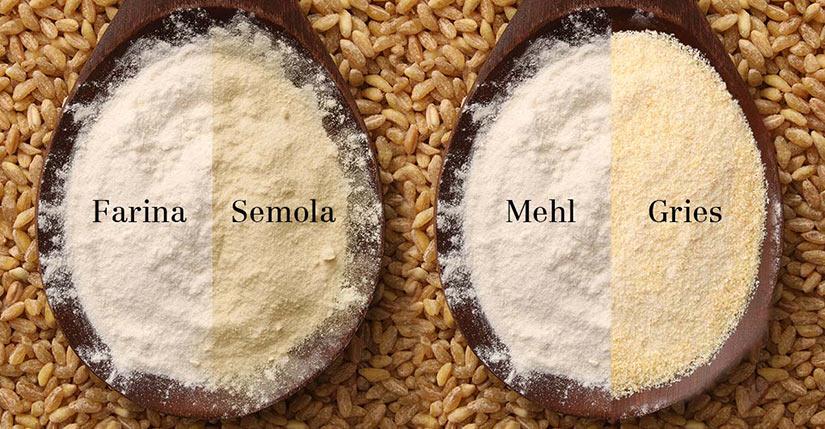 Farina und Semola