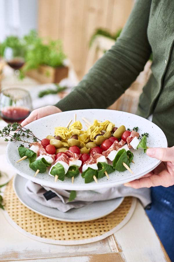 Fingerfood Spiesse mit Tortellini