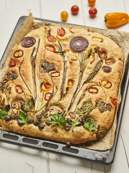 Garden Focaccia – vegetarisches Rezept