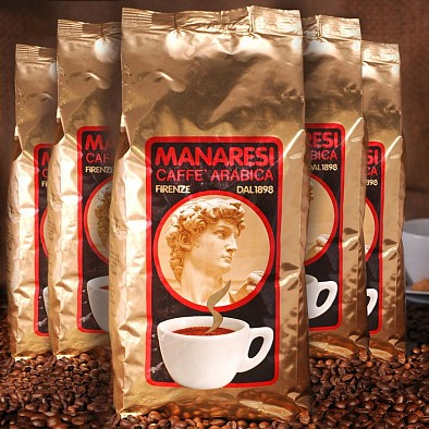 Manaresi Espresso Miscela Oro, Bohnen 5x1kg