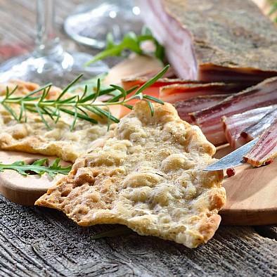 Schüttelbrot del Sudtirolo Peperoncino Aglio Erbe